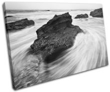 rocks black white Sunset Seascape - 13-0342(00B)-SG32-LO